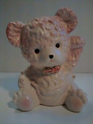 1964 Samson Import Co. Ceramic Pink Bear Planter #5398