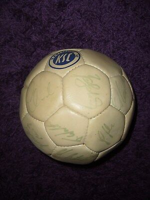KSC AUTOGRAMMBALL VON 1992/1993 1,BUNDESLIGA ORIGINAL