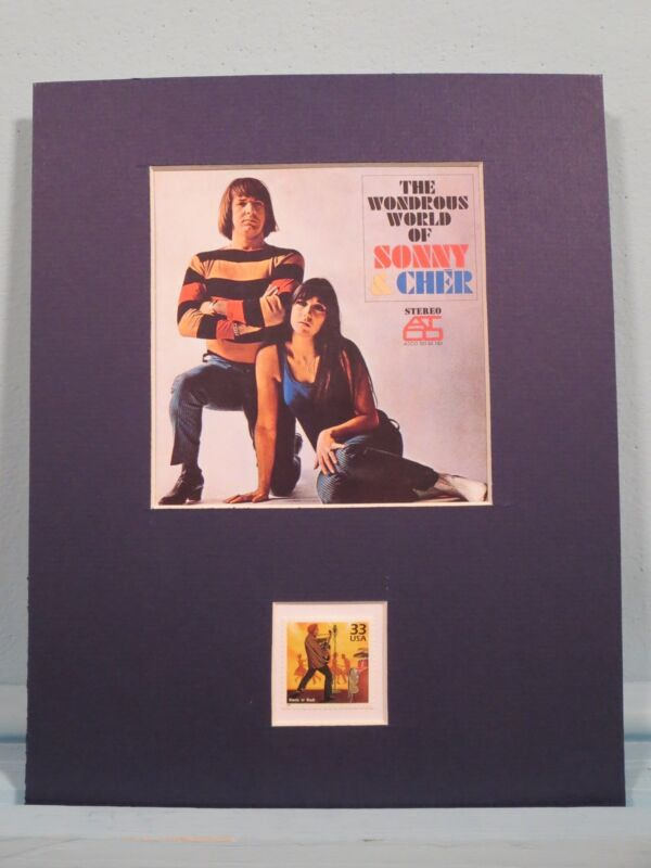 Saluting Sonny and Cher and the stamp issued to honor Rock & Roll