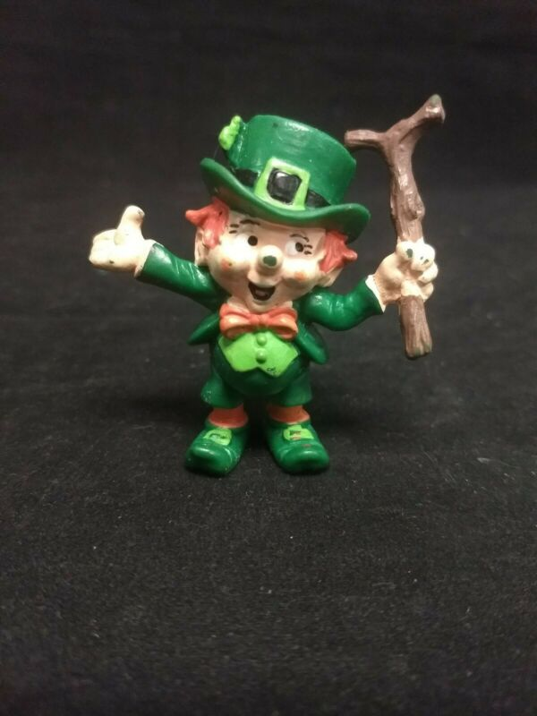 Vintage 1980 Lucky Leprechaun Figurine by W Berrie Made in Portugal