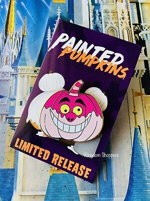 New Disney Parks Halloween Painted Pumpkins Cheshire Cat Mystery Pin