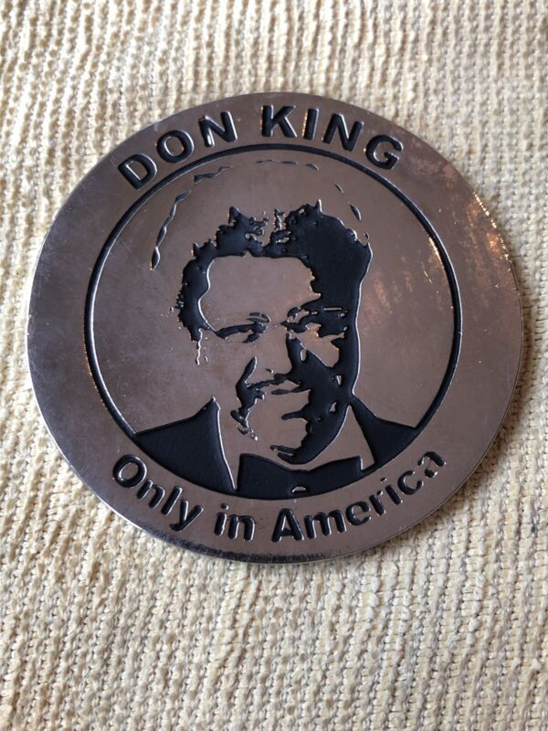 """Don King 2.25"""" Metal Medallion - Only In America - The Greatest Promoter"""