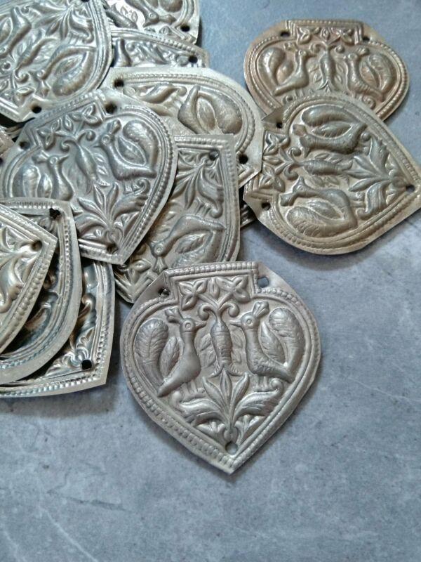 Big Lightweight Metal Amulets Stylized Bird Motif DIY Supplies