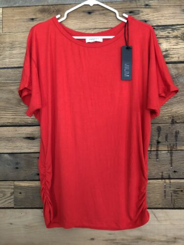 NWT Made by Johnny Size XL Stretch Top Ruched Sides Dolman S