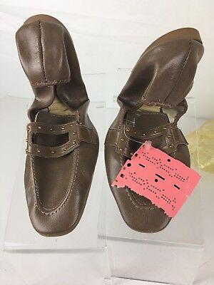 "Vintage Mint Women's Mercury USA Brown Size 7-7.5 "" Shoes w/ Case (ssw3)"