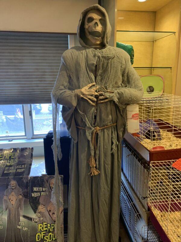 Spirit Halloween Prop Reaper Of Souls 6ft Animatronics Grim Reaper RARE