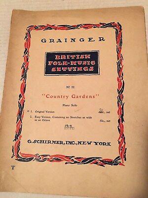 Vintage Sheet Music British Folk-Music Settings