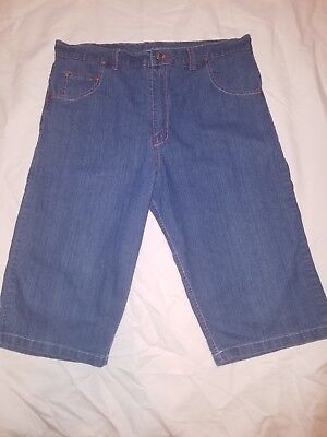 Evisu Genes Men's Short Jeans 100% Cotton Size 38 Urban Wear
