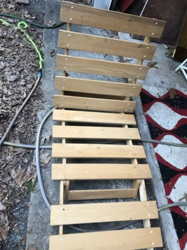 IKEA Outdoor Wooden Chaise Lounge Patio Beach Chair Adjustab