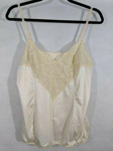 Vintage Camisole Lingerie Lace 36 Wonder Maid Wondermaid Beige Undergarment Vtg