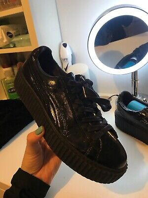 Women's Puma Fenty x Rihanna Creepers Trainers Black Size 8 exc  condition