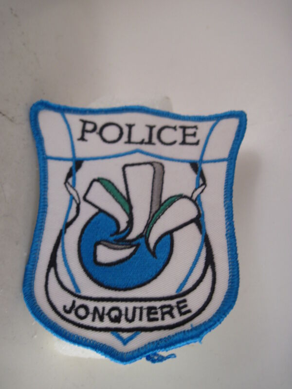 Jonquiere Police  cloth  patch  (3s4  21 )