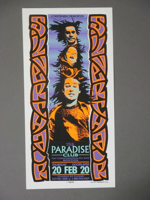 Silverchair Silkscreen Concert Handbill 2/20 Mark Arminski ORIGINAL Paradise Clu
