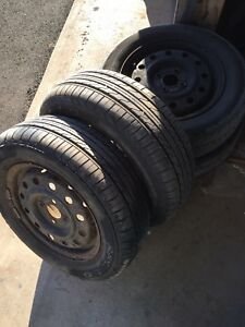 """4 x 100mm - 185 / 65 / 14"""" Saturn rims -fits many others"""