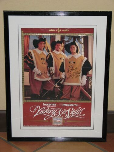 New Orleans Saints 3Musketeers Autographed Framed Poster, Bobby Hebert