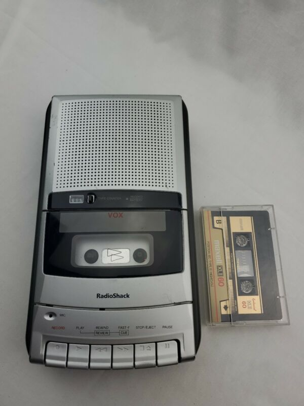 Radioshack CTR-121 Vox voice activation Ac/battery Cassette Recorder working