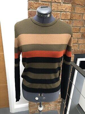 John Smedley Ladies Striped Jumper - Size M - Merino Wool