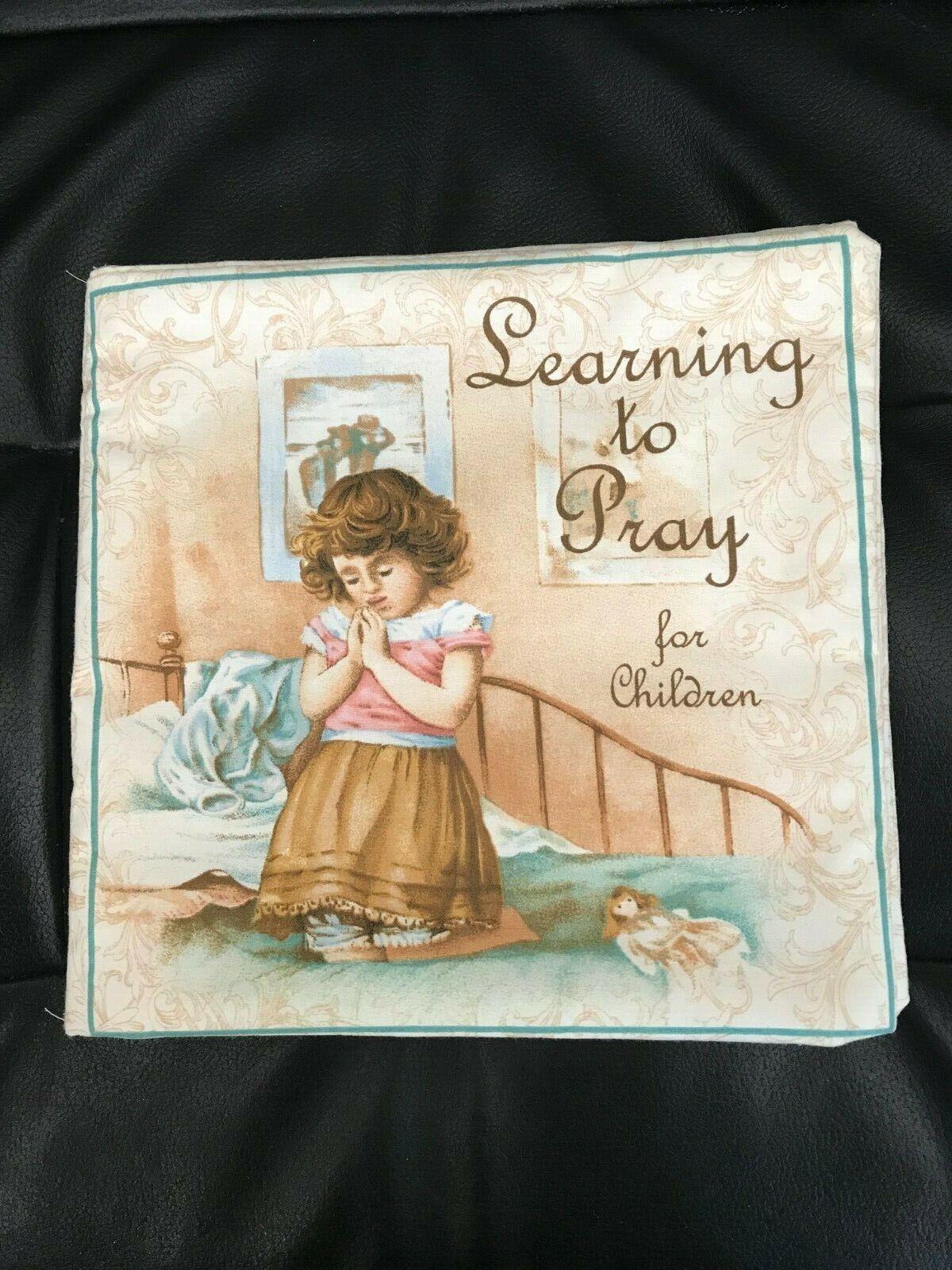 HANDMADE CRAFTS CHILD SOFT FABRIC BOOK LEARNING TO PRAY CHRI