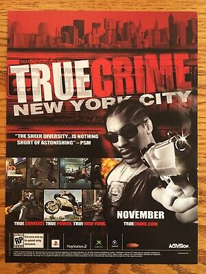 True Crime: New York City 2005 PS2 Playstation 2 Xbox GCN Vintage Poster Ad Art