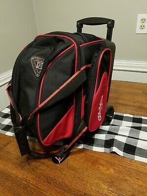 KR Strikeforce Cruiser Red/White/Black 1 Ball Roller Bowling Bag - See Descript