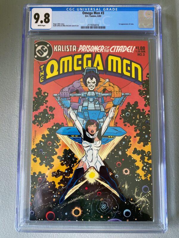 Omega Men #3 CGC 9.8 White pages 1st Lobo