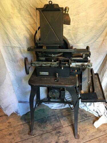 Vintage Graphotype Dog Tag Metal Imprinting Machine Model 6253