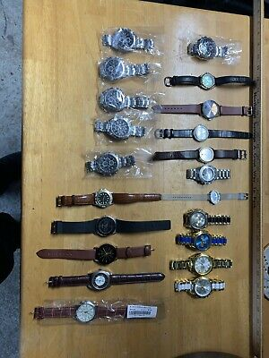 Lot Watches Men's/Women's Sizes Stainless Steel/Leather Straps New And Used