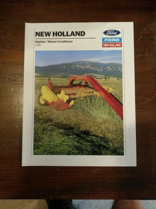 Ford New Holland Haybine Mower-Conditioner 116 Brochure
