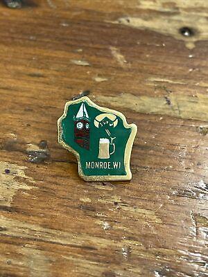 Monroe Wi tie tac pin beer cheese clocktower