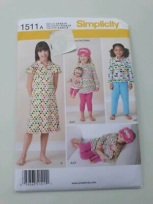 Simplicity Pattern 1511 A Child and 18