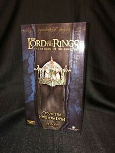 SIDESHOW LORD OF THE RINGS CROWN OF THE KING OF THE DEAD SCALED HELMET FIGURE