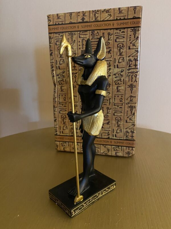 Anubis Egyptian Statue New in Original Box Great Details!
