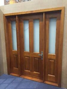 CEDAR FRONT DOOR + SIDE LIGHTS 1760Wx2100H, STAINED & OILED Vineyard Hawkesbury Area Preview