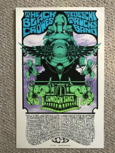 Black Crowes Tedeschi Trucks Band March London Souls 2013 Tour Poster