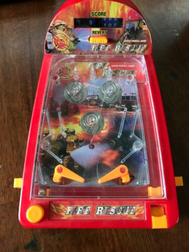 Fire Rescue Super Pinball Game Vintage Handheld