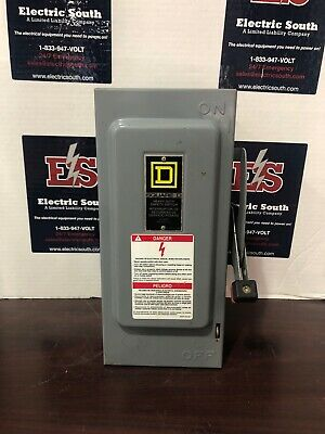 Square D Heavy Duty Safety Switch H361 30 Amp 600 Volt Fusible