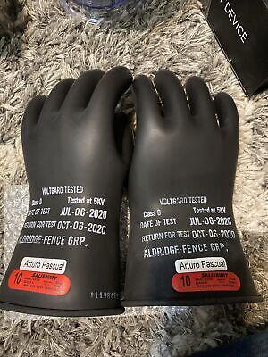 Salisbury D120 Type 1class 0 Electrical Gloves 1000v Ac Size 10 Rubber Gloveb23