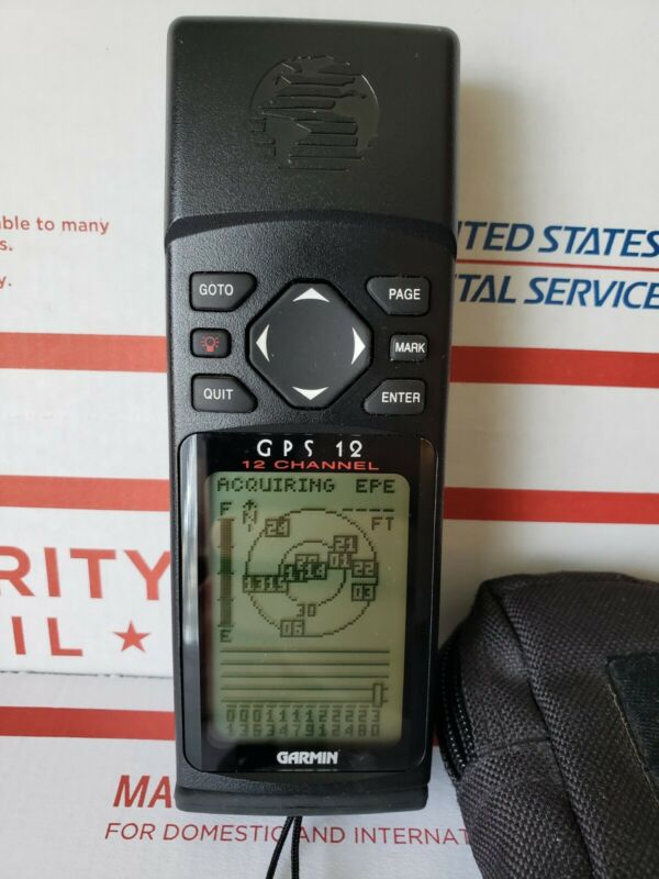 Garmin GPS 12 Handheld Personal Navigator   Fully tested and working!