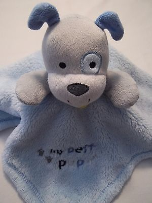 Baby Gear My Best Pup Lovey Security Blanket Blue Plush Puppy Dog 15x15 Nunu