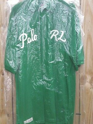 Ralph lauren RL 67 classic fit mesh polo shirt green white script mens XLT tall