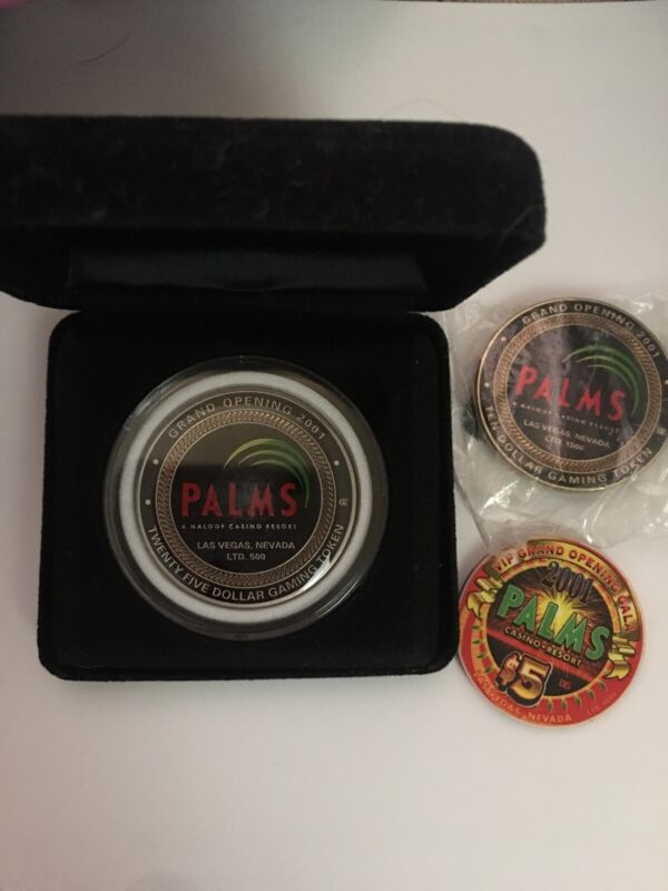 Palms Casino Grand Opening Chip Collector Set Mint Condition