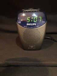 PHILIPS CLOCK RADIO AJ3130 LED Gentle Wake Alarm AM FM & Buzzer Sleep 9V Battery