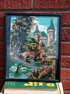 Tapestry Picture. Castle River. Used.