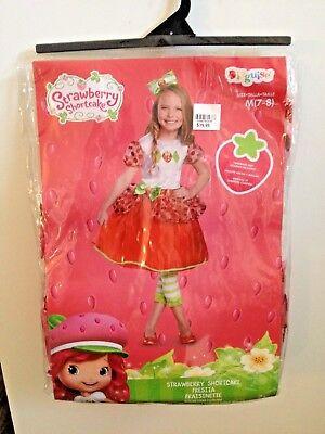 Strawberry Short Cake Costume,Dressup, Kids 7-8 Disguise New](Cake Costume Kids)