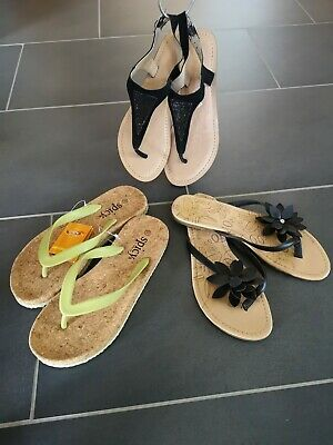 Venice Damen Zehentrenner beige-braun Neu