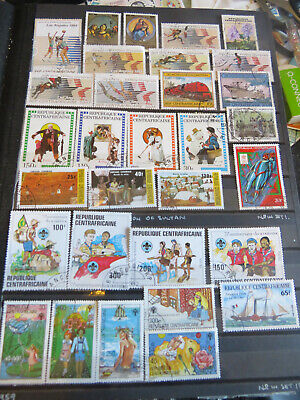 AFRICA CENTRAL AFRICA STAMPS LOT 1 97 CANCELLED NO GUN SOME WITH GUM HINGED ONCE