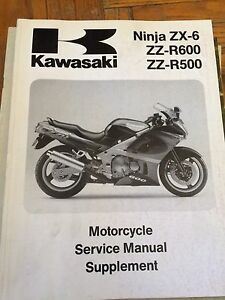 1993 Kawasaki ZX6 ZZ-R600 ZZ-R500 Service Manual Supplement