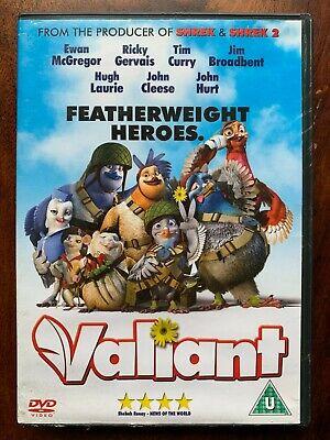 Valiant DVD 2005 British Homing Pigeon Animated Movie w/ Ewan McGregor