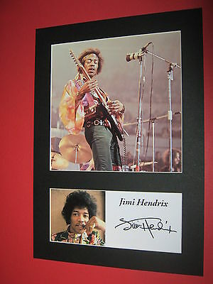 JIMI HENDRIX EXPERIENCE A4 PHOTO MOUNT SIGNED REPRINT AUTOGRAPH