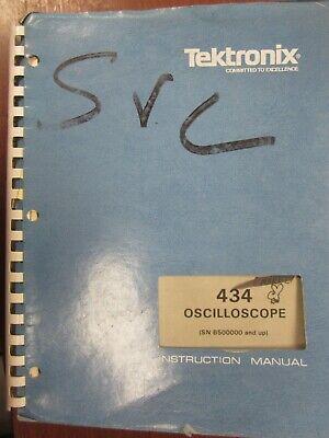 Tektronix 434 Ocilloscope Sn B500000 And Up Instruction Manual 070-1915-00
